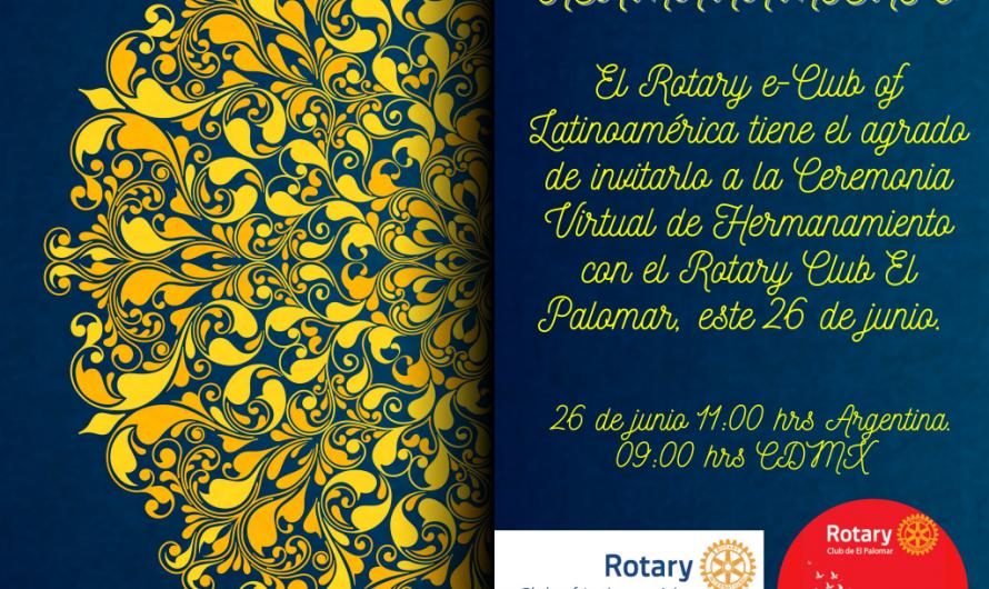 Ceremonia de Hermanamiento entre el Rotary e Club of Latinoamérica y el Rotary Club El Palomar