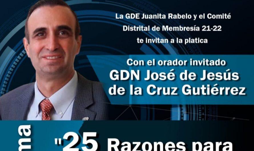 Conferencia de José de Jesús de la Cruz Gutiérrez, 25 razones para ser rotario.